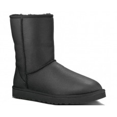 "UGG Classic Short Leather Boot ""Black"""