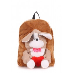 Детский рюкзак PoolParty Backpack Kiddy Dog Brown