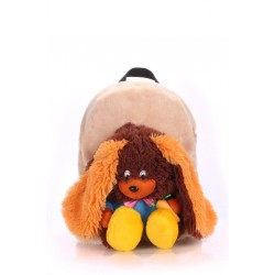 Детский рюкзак PoolParty Backpack Kiddy Rabbit Brown
