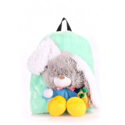 Детский рюкзак PoolParty Backpack Kiddy Rabbit Green