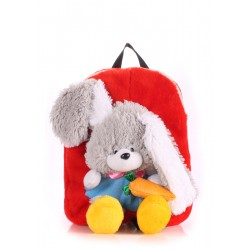 Детский рюкзак PoolParty Backpack Kiddy Rabbit Red
