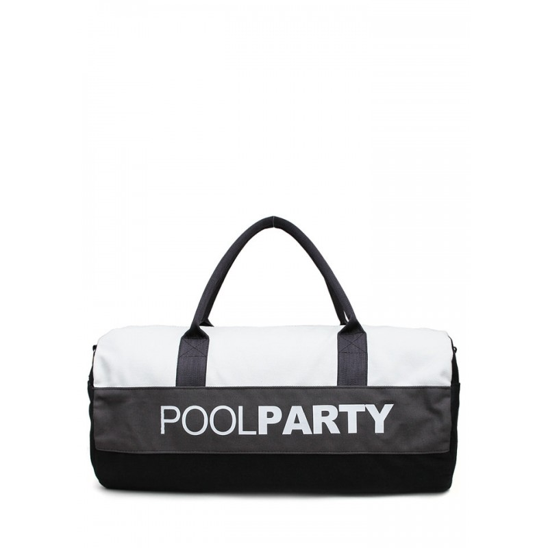 PoolParty Gymbag White Black спортивная сумка