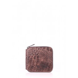 Кошелек Poolparty Mini Wallet Croco Brown