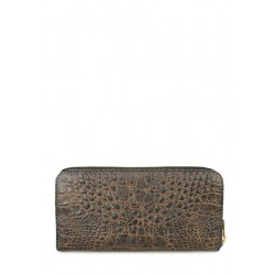 Кошелек Poolparty Leather Crocodile Brown