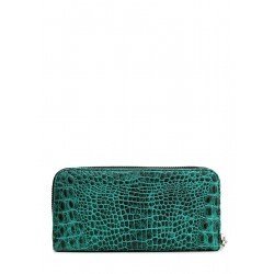Кошелек Poolparty Leather Crocodile Green