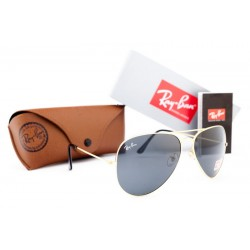 Ray Ban Aviator Grey Gold 7477
