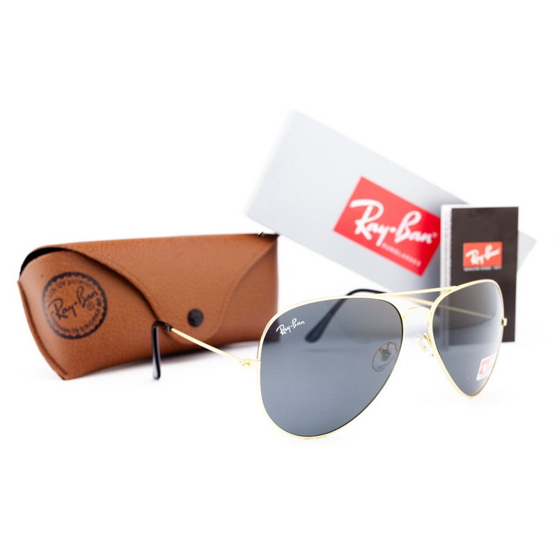 Очки Ray Ban Aviator Grey Gold 7477