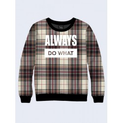 Свитшот Vilno Always do what Print