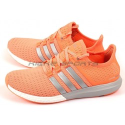 Adidas Gazelle Boost Orange Silver White