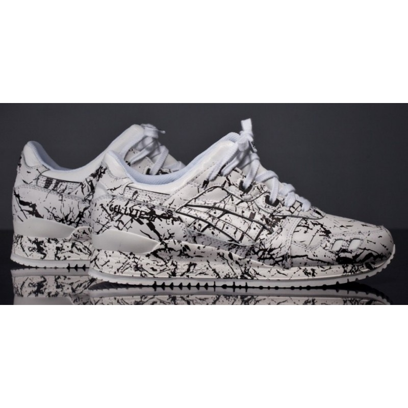Asics Gel Lyte III Marble Pack White женские кроссовки