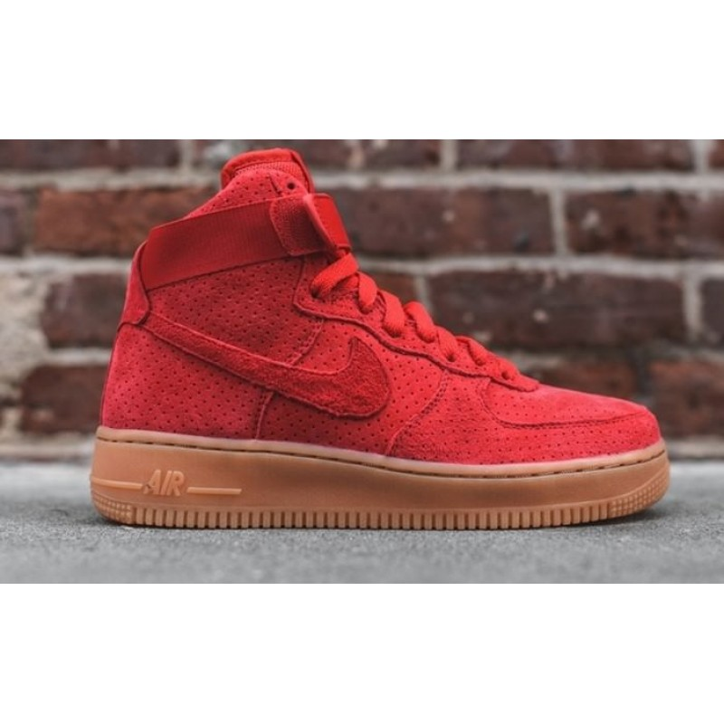 Nike Air Force 1 High Red женские кроссовки