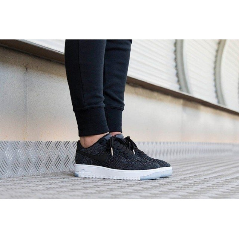 "Nike Air Force 1 Ultra Flyknit Low ""Black"" женские кроссовки"