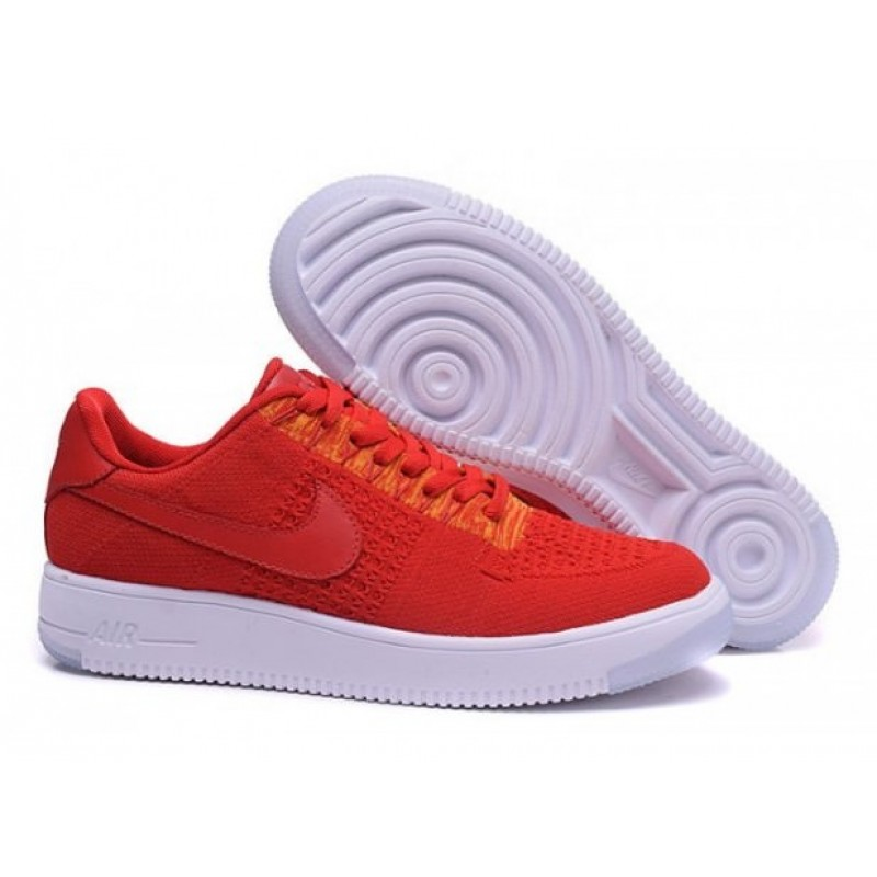 "Nike Air Force 1 Ultra Flyknit Low ""University Red"" женские кроссовки"