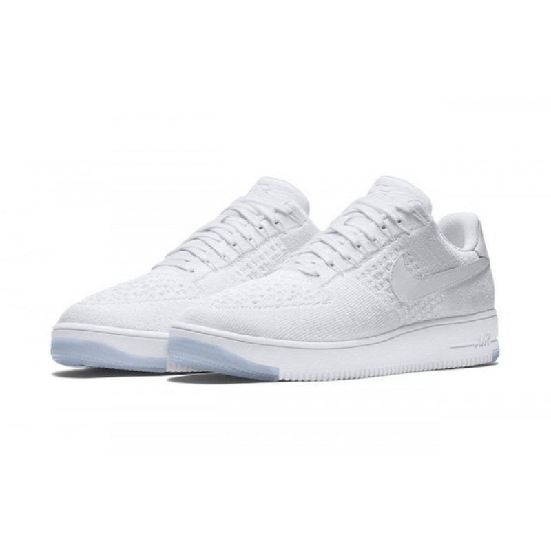 "Nike Air Force 1 Ultra Flyknit Low ""White"" женские кроссовки"