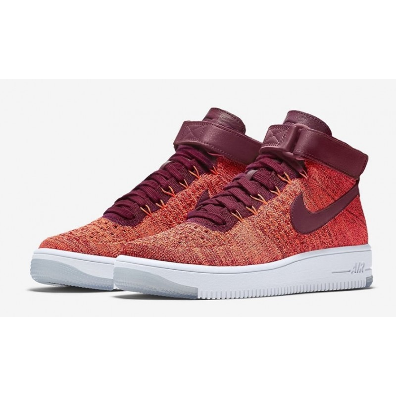 Nike Air Force 1 Ultra Flyknit Red 2 женские кроссовки