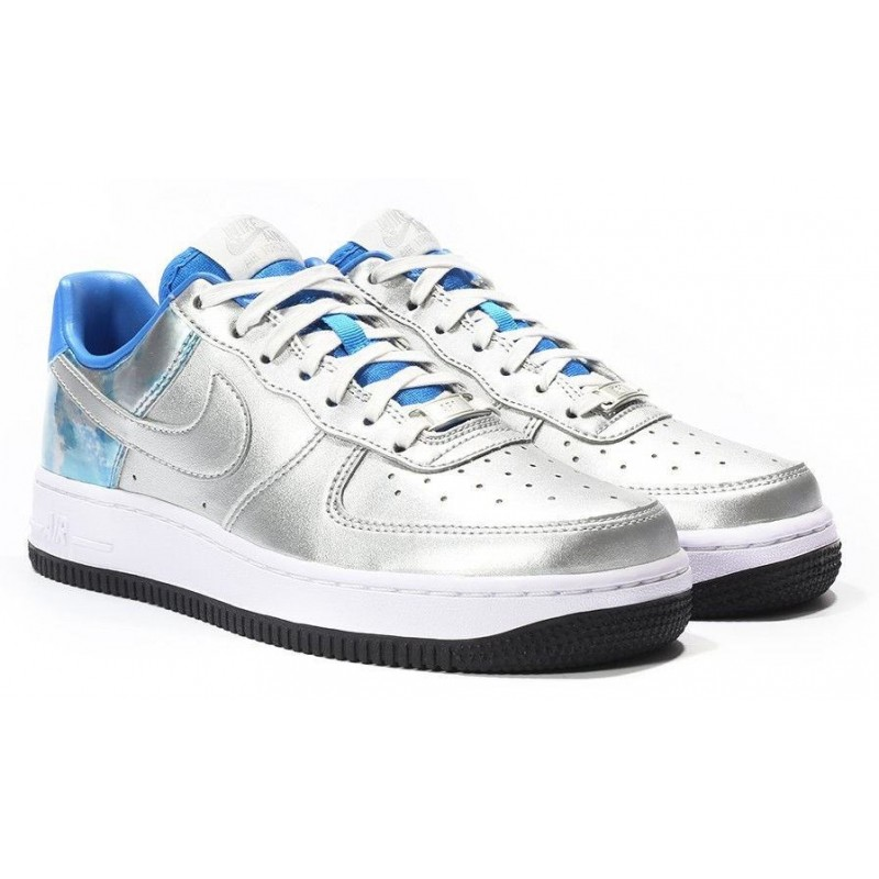 Nike Air Force Low Silver Blue женские кроссовки