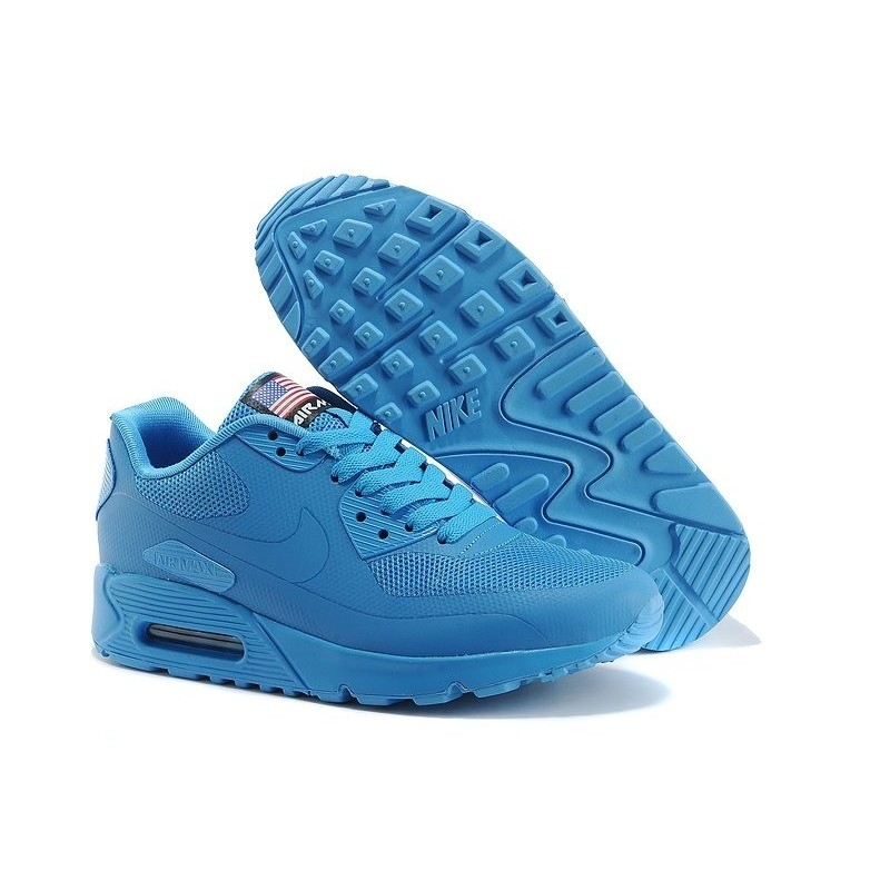 Nike Air Max 90 Hyperfuse USA Blue женские кроссовки