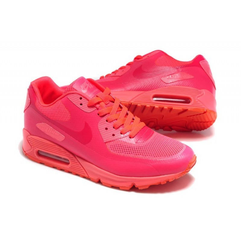 Nike Air Max 90 Hyperfuse Pink Orange женские кроссовки