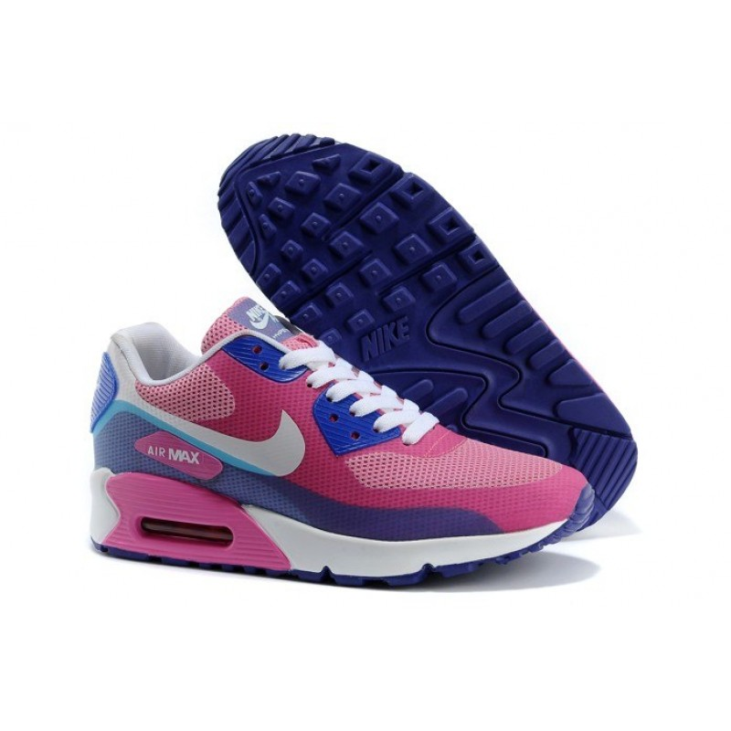 Nike Air Max 90 Hyperfuse Pink White женские кроссовки