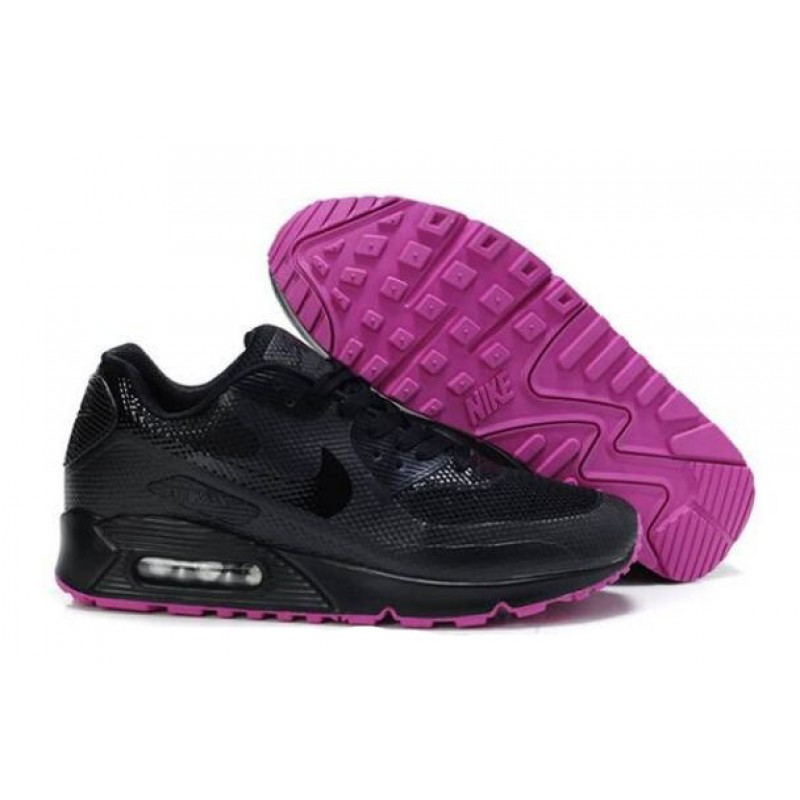 Nike Air Max 90 Hyperfuse Black Purple женские кроссовки