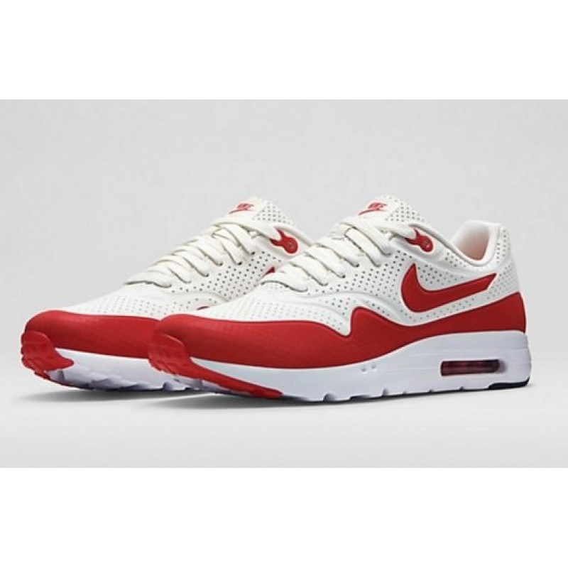 Nike Air Max Ultra Moire White Red женские кроссовки