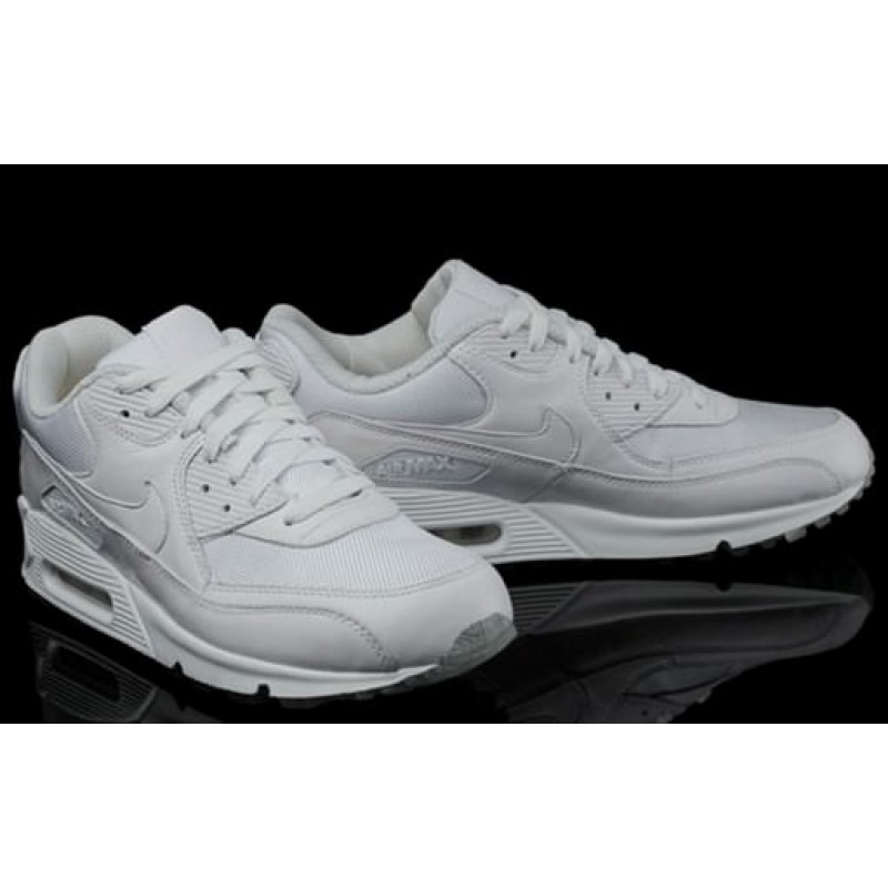 "Nike Air Max 90 ""Premium White/Metallic Silver"" женские кроссовки"
