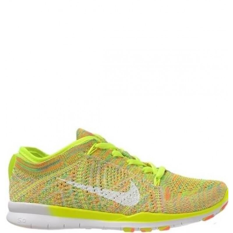 "Nike Free TR Fit Flyknit ""Yellow-Green"" женские кроссовки"