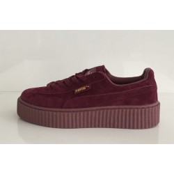 Puma Suede Creeper x Rihanna Bordo