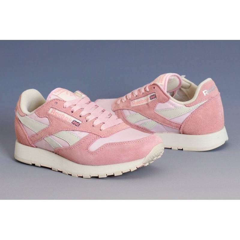 Reebok CL Classic Leather Utility Pink женские кроссовки
