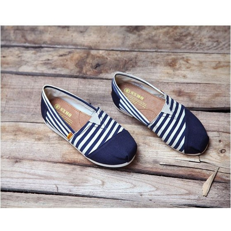 Toms Classic Blue-White Combination женские эспадрильи