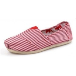 Toms Classic White Red