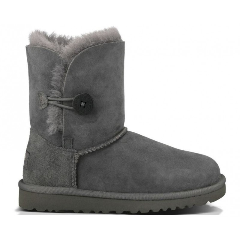 UGG Baby Bailey Button Grey-детские угги