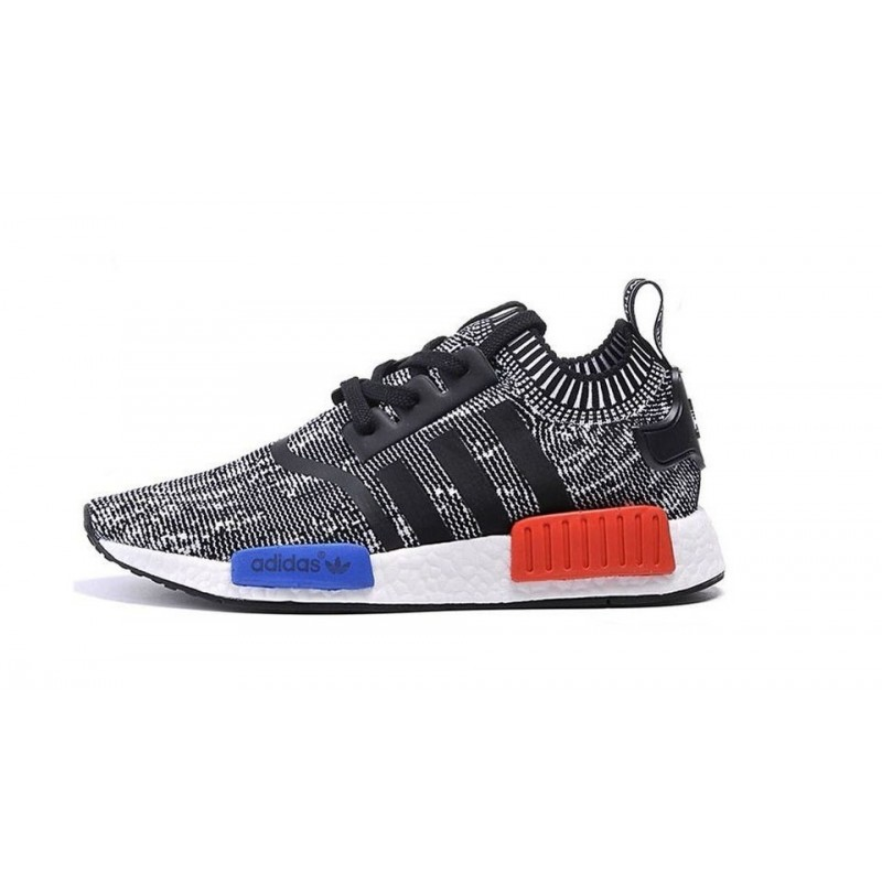 Adidas Originals NMD Runner Mottled Black and White мужские кроссовки