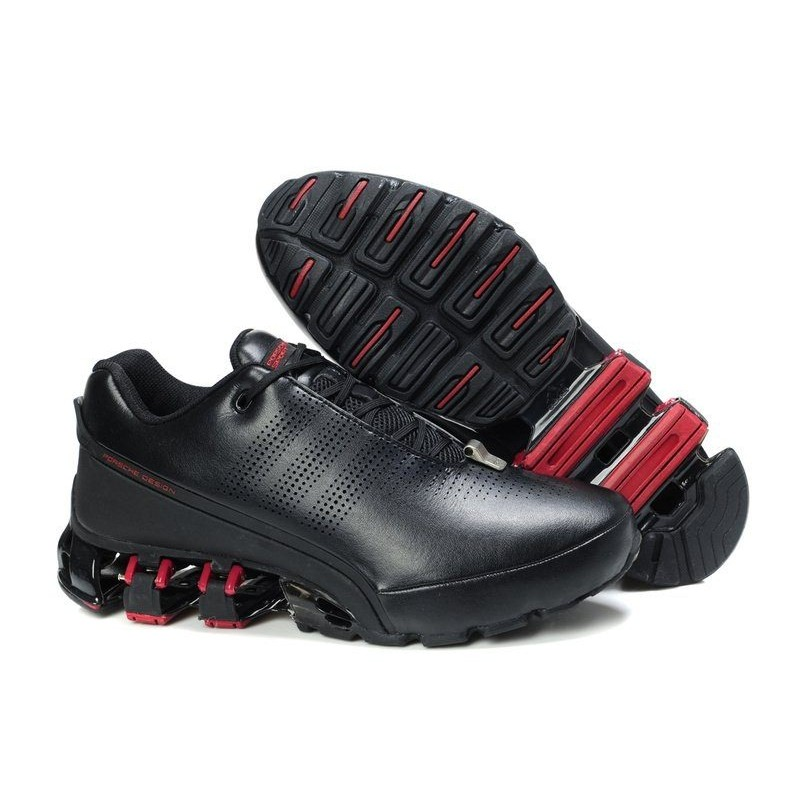 Adidas Porsche Design P5000 Leather Black Red мужские кроссовки