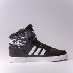 "Adidas Extaball Winter ""Black/White"" С МЕХОМ"