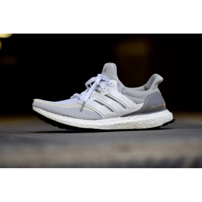 Аdidas Ultra Boost Grey/Off White мужские кроссовки