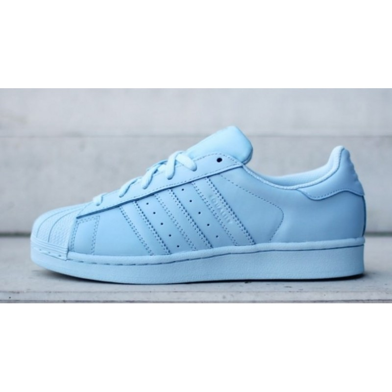 "Adidas Superstar Supercolor ""Light Blue"" женские кроссовки"