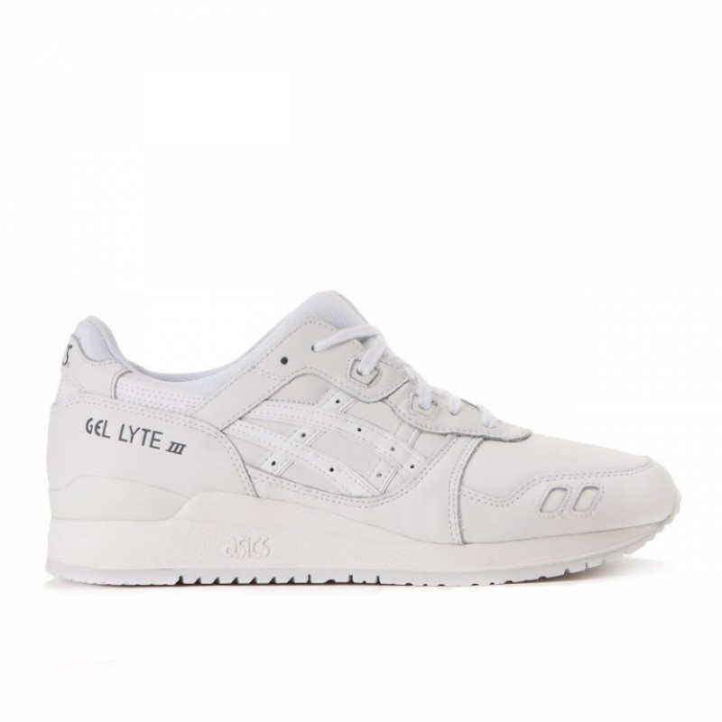 "Asics Gel Lyte III Leather ""All White"" мужские кроссовки"