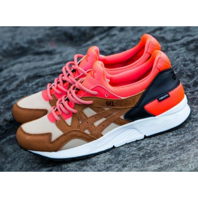 "Asics Gel-Lyte V x Concepts Mix & Match ""Coral"" High Quality мужские кроссовки"