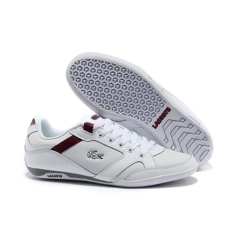 Lacoste Basket White Red мужские кроссовки