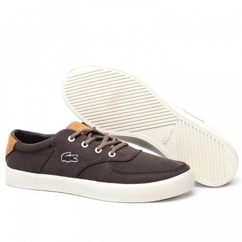 Lacoste Old School Brown 2 мужские кеды