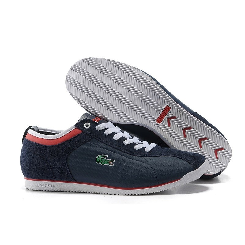 Lacoste Seed Casual Blue Red мужские кроссовки