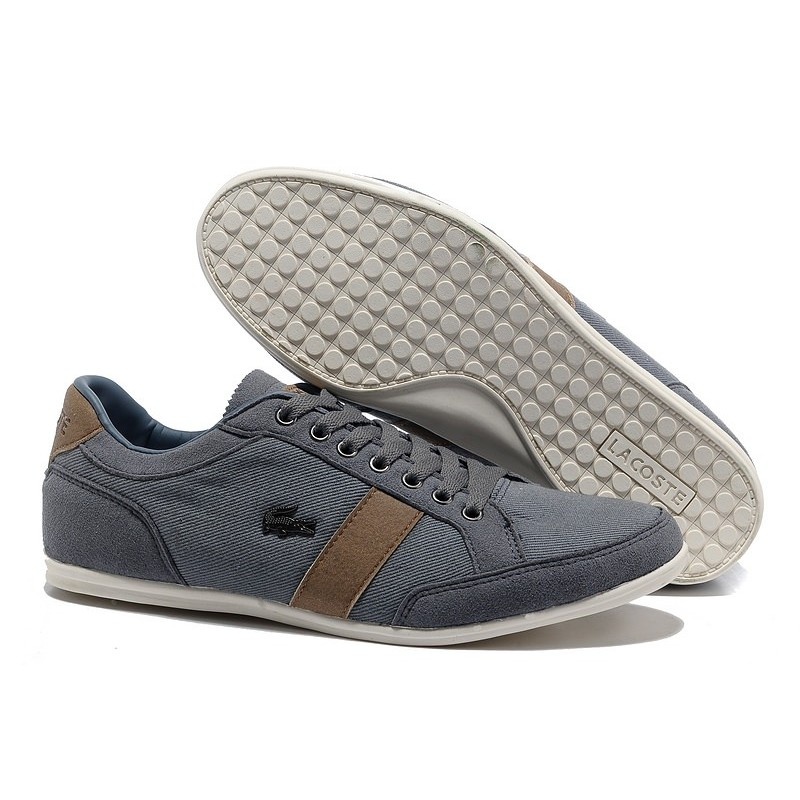 Lacoste Seed Casual Gray Brown мужские кроссовки