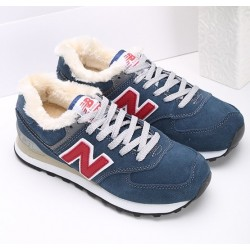 New Balance 574 Winter Blue/Red