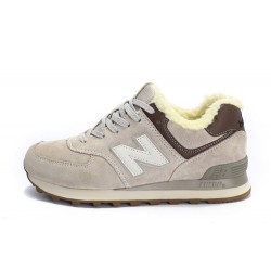 "New Balance 574 Winter ""Light Grey"" С МЕХОМ"