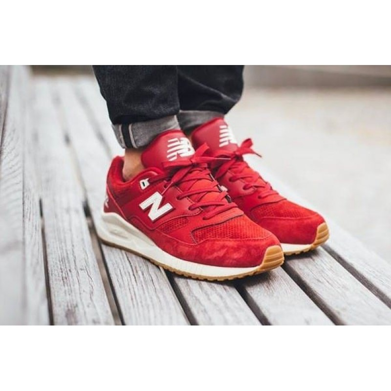 New Balance M530 90s Running Solids Red/Gum мужские кроссовки