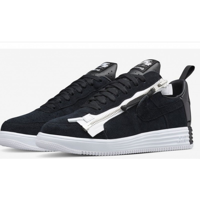 Acronym x NikeLab Lunar Force 1 Black White мужские кроссовки