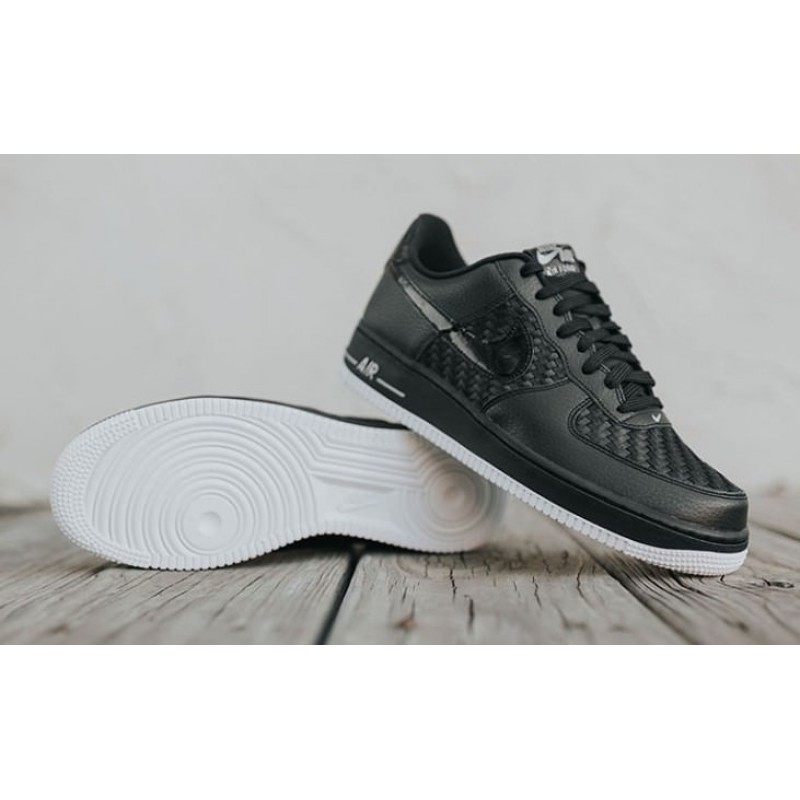 "Nike Air Force 1 Low ""Black-Summit White-Gum"" мужские кроссовки"