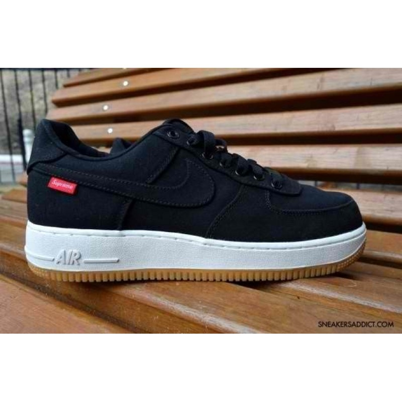 "Supreme x Nike Air Force 1 Low ""Black"" мужские кроссовки"
