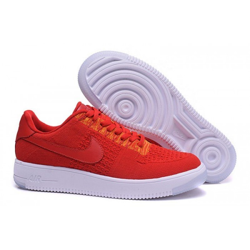 "Nike Air Force 1 Ultra Flyknit Low ""University Red"" мужские кроссовки"
